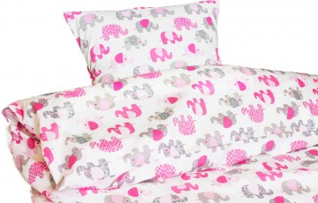 Наволочка Elefant pink